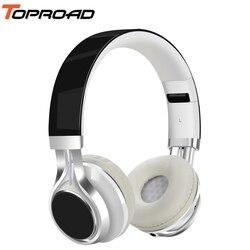 TOPROAD słuchawki przewodowe 3.5mm składany zestaw słuchawkowy stereo audifonos słuchawki z mikrofonem dla IOS Andorid inteligentnego telefonu  komputera w Słuchawki douszne i nauszne od Elektronika użytkowa na