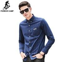 Pioneer camp ekose gömlek erkekler uzun kollu yeni marka clothing en kaliteli slim fit tasarımcı iş moda erkek gömlek 677179