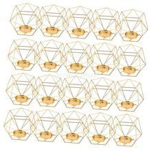 20pcs 3D геометрический Свадебный геометрический подсвечник свеча, чайный свет держатель праздничное освещение держатели ремесла