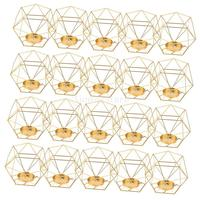 20 Pcs 3D Geometric Wedding Geometric Candlestick Candle Tea Light Holder Mood Lights Holders Crafts