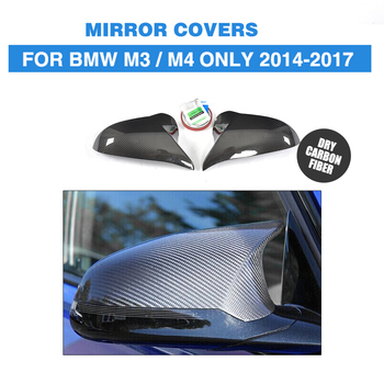 DRY Carbon Fiber Rear View Mirror Covers Car Sticker For BMW F80 M3 F82 F83 M4 Only 14-17 Sedan 4D Coupe 2D Add On Style 2007 bmw x5 spoiler