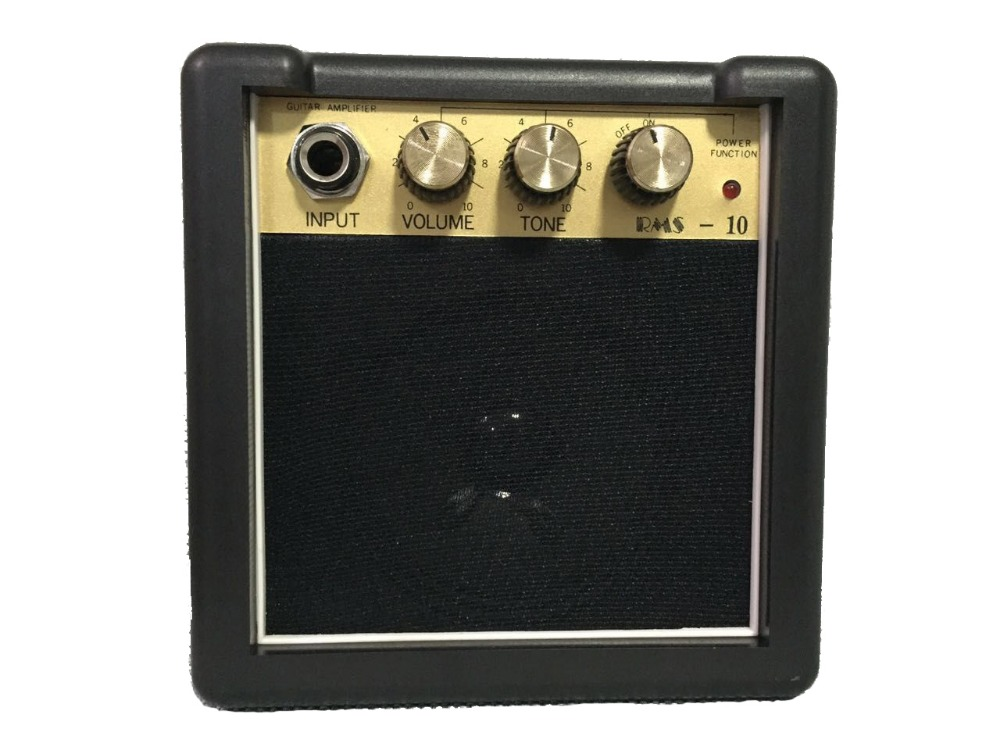 Free Ship. RMS-10 3W Portable High Quality Mini Guitar Amplifier/Speaker 9V Battery power supply portable mini guitar amplifier t050 3w mini portable retractable stereo speaker w tf black golden 16gb max