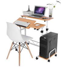 Foldable Computer Table Adjustable Portable Laptop Desk Laptop Bed Table Standing Desk With Keyboard