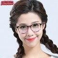 Coreia do Stylish Vidros do Olho Do Vintage Rodada Moldura Preta Óculos de Armação para Homens e Mulheres