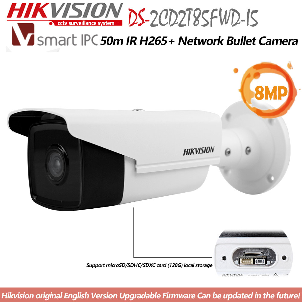 Hikvision DS-2CD2042WD-I 4MP H 264 CCTV Camera Mini Bullet IPC English  Version surveillance IP WDR Camera Replace DS-2CD2035-I