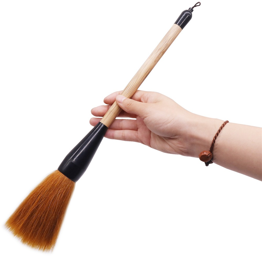 1 pcs Woolen Writing Brush Profession Calligraphy Brushes Nib 100*75mm Painting Supplies Calligraphy Brushes 38cm Length Bamboo