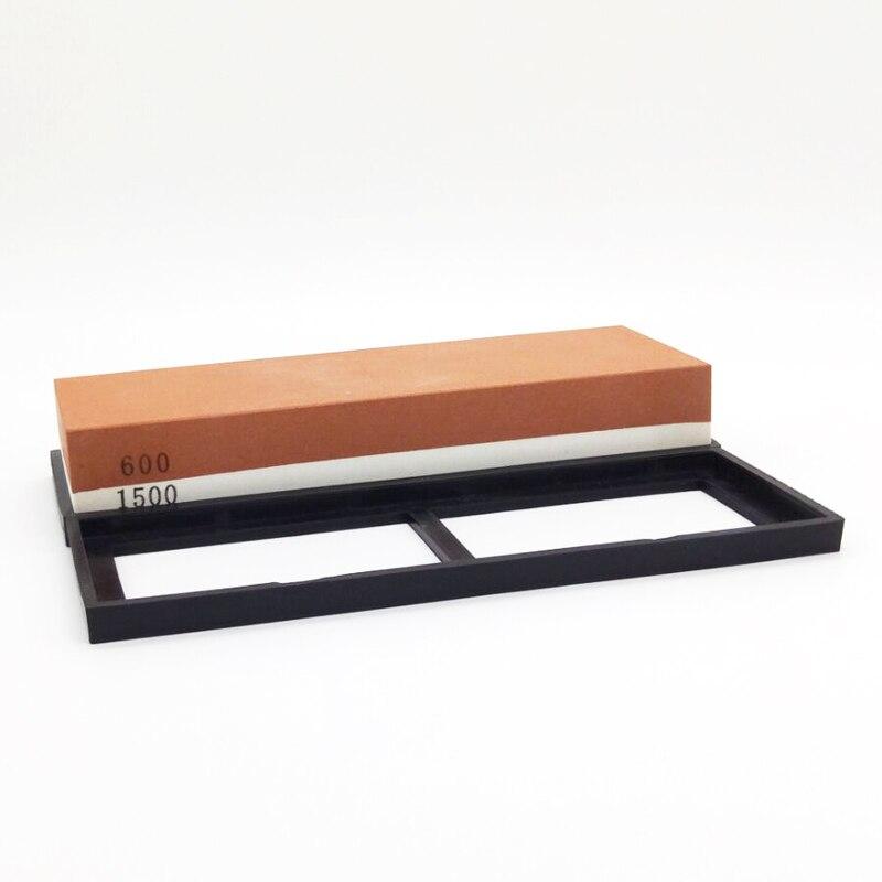 NHM coltello Da Cucina per affilare i coltelli 600/1500 grit corindone singolo lato whetstone pietra ad olio levigatura pietre utensili da cucina