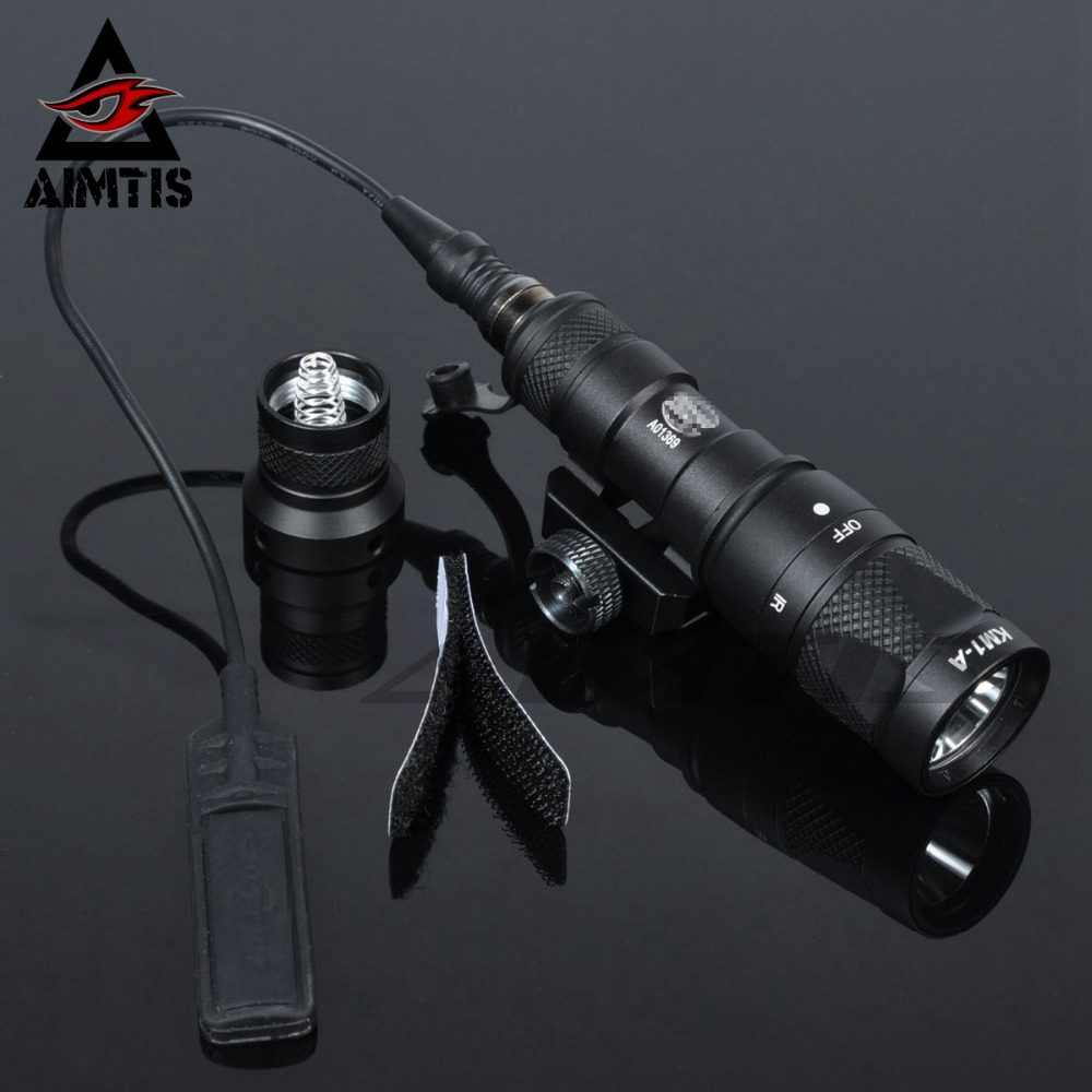 AIMTIS SF M300V Scout Light LED IR 20mm Rail Flashlight NV Infrared Output Rifle Tactical Weapon Light for Hunting Armas 5718hb3 dm542 stepper motor package 57byg miniature motor plus drive package free shipping stepper motor driver
