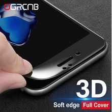 3D Curved Edge Full Cover Screen Protector For iPhone 6 7 6S 8 Plus Tempered Glass For iPhone 7 8 6 6s Plus C Toughened Film 0 3mm anti uv tempered glass screen film cover for iphone 6s 6 4 7 arc edge black