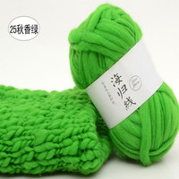 500g/Set 10 Ball Soft Wool Roving Bulky Thick Big Yarn Spinning Hand Knitting Thread Crochet Yarn for Hat Scarf Knitting