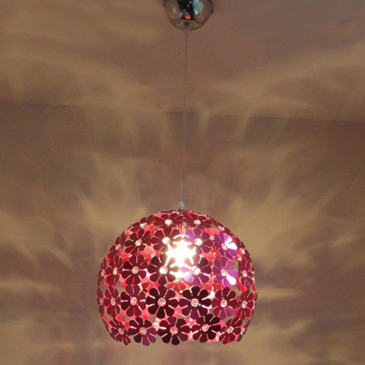 ФОТО Modern LED Flower Aluminum Crystal Pendant Lamp Living Room Cafe Bar Club Hall Corridor Dining Room Pendant Lighting Fixtures