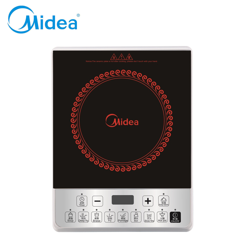 ФОТО Fashion Midea electric induction cooker 220v EU plug Stew/boil hotpot Soft control induction plate cooker kitchen appliance