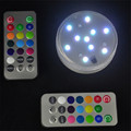 LED Iluminación de Velas Decorativas Luces 10LED Multicolor Impermeable Del Banquete de Boda de Luz Base de Jarrón de Flores + 20key Remoto