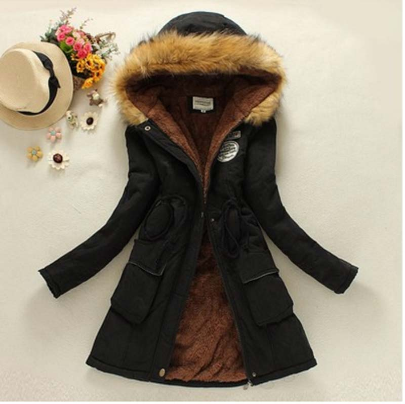 new winter women jacket medium-long thicken plus size 3XL outwear hooded wadded coat slim parka cotton-padded jacket coat ce050 new winter jacket women 2017 fashion slim medium long cotton padded hooded parka female wadded jacket outwear winter coat cm1728