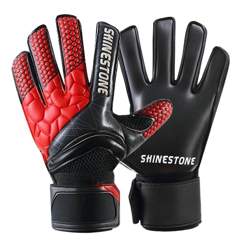 Men Kids Size Latex Professional Soccer Goalkeeper Gloves Strong Finger Protection Football Match Gloves 7