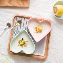NIMITIME керамические костяного фарфора конфеты цвет серии в форме сердца выпечки запеченные десерт чаша для супа, салата