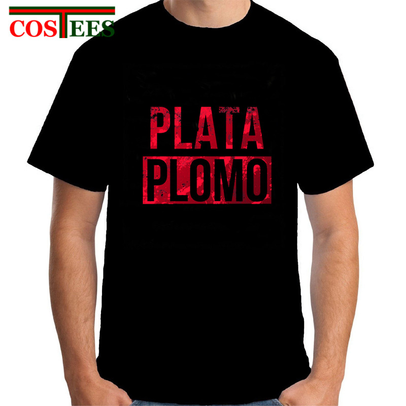 69fa574cb Tshirt flamengo 2017 Plata o Plomo Men T shirt Narcos Pablo Escobar Silver  or Lead Short sleeve Mens T-shirt Casaul Cotton Tees