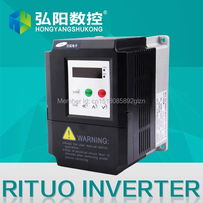 اینورتر فرکانس RITUO 1.5KW VFD از اینورتر 220v 1.5kw VFD متغیر فرکانس