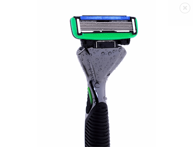 (1 Titular + 2 Cartuchos) Homens de Barbear Manual de Barbear Navalha com Trimmer Lâmina de segurança Do Sistema com 6 PCS lâminas de barbear 2 PÇS/LOTE