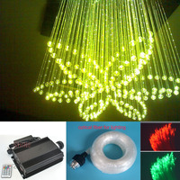 DMX512 90W RGB LED fiber optic light kit star sky ceiling 680strands(0.75MM+1MM+2MM+3MM)*3M with 28Key Remote control