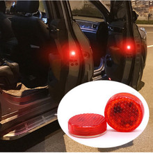 цена на 2x LED Car Door Warning Lights Accessories Sticker For SEAT Leon 1 2 3 MK3 FR Cordoba Ibiza Arosa Alhambra Altea Exeo Toledo
