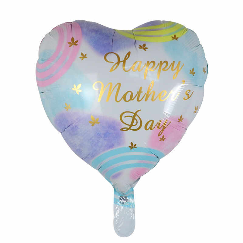 10pcs 18inch MOM Foil Balloons Print I Love You Heart Air Globos For Mothers Day Birthday