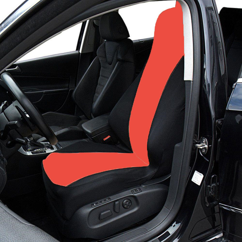 Auto Car Polyester Material Racing Car Seat Covers Universal Fit Front Rear Blue Line Car Seat