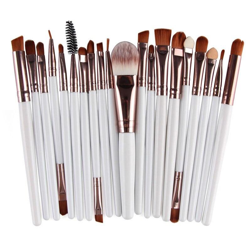 20pcs Eyes Brushes Set Eyeshadow Eyebrow Eyelashes Eyeliner Lip Makeup Brush Sponge Smudge Brush Cosmetic pincel maquiagem (22)