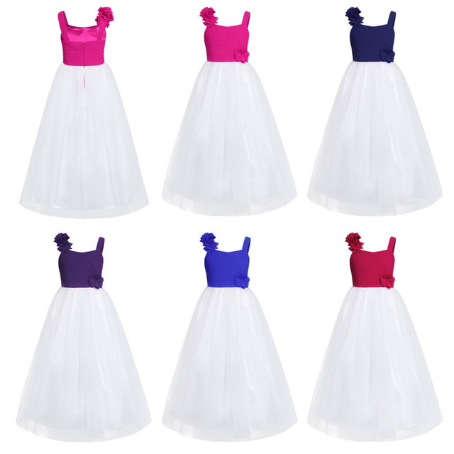 Long Flower Girl Bridesmaid Dresses