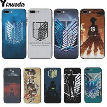 Yinuoda Anime Japanese attack on Titan Novelty Fundas Phone Case Cover For iphone X XS XR XSMAX 8 8plus 7 7plus 6plus 6s 5S SE