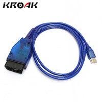 KROAK 3 Pin OBD 2 409 KKL USB Ecu Scan Cable Adapter Diagnostic Interface Tool CD