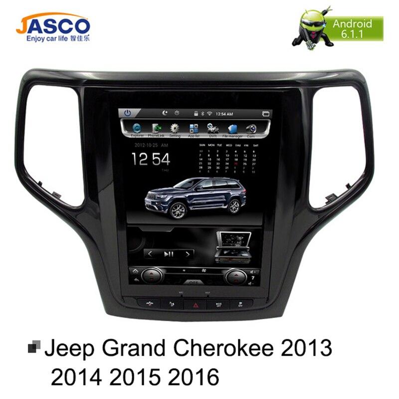 10,4 по вертикали Экран Android 6,0 автомобиль DVD gps ГЛОНАСС радио плеер для Jeep Grand Cherokee 2013-2016 Оперативная память 2 ГБ 32 г стерео