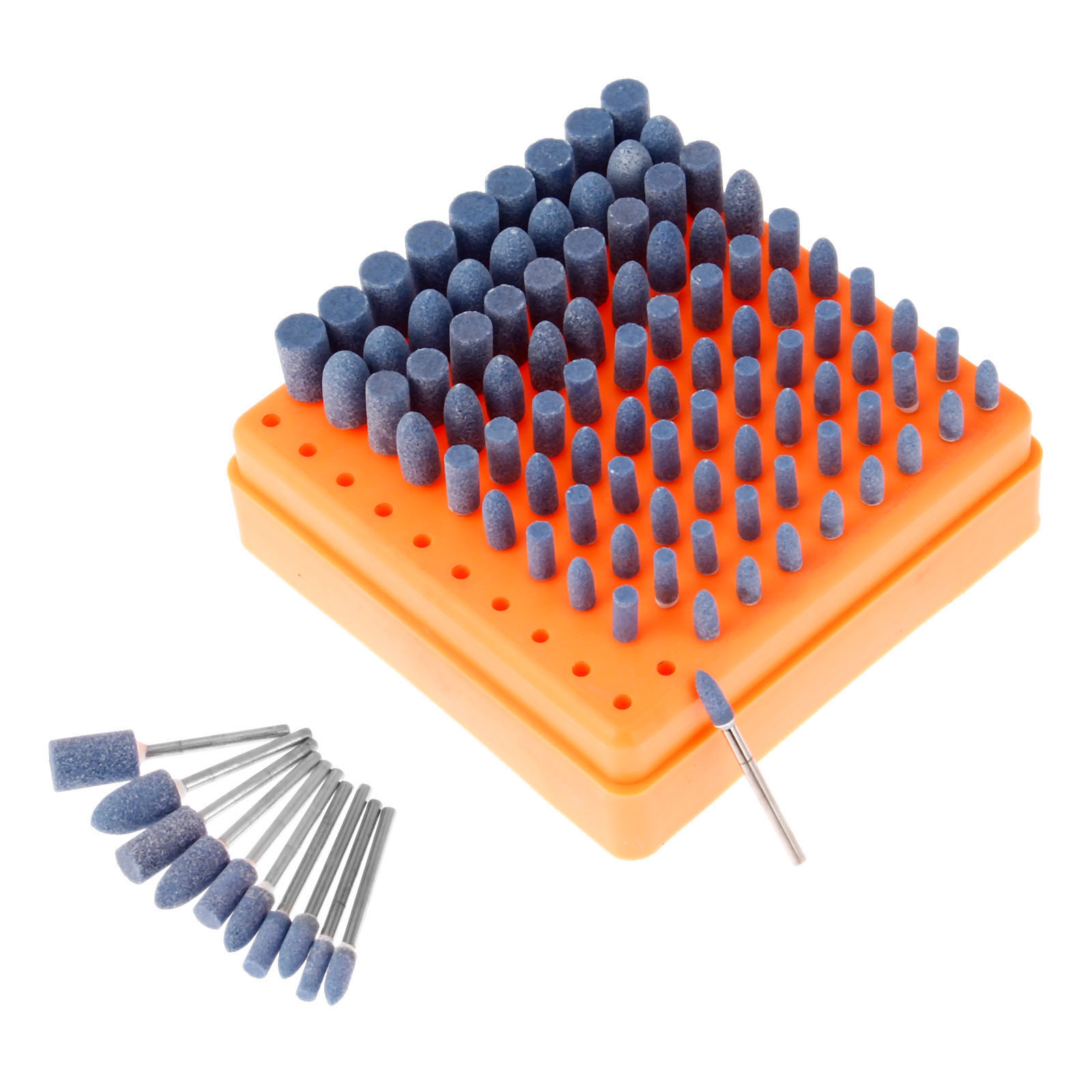 100pcs Ceramic Wheel Grinding Head Polishing Drilling Accessories Kit for Grinder Rotary Tool 3mm