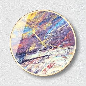 Abstract Art Light Luxury Creative Wall Clock Living Room Home Decoration Atmospheric Watches Senior Wall Clocks