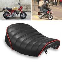 2017 New Black Retro Motorcycle Hump Cover Cafe Racer Seat Saddle For Honda MONKEY Z High