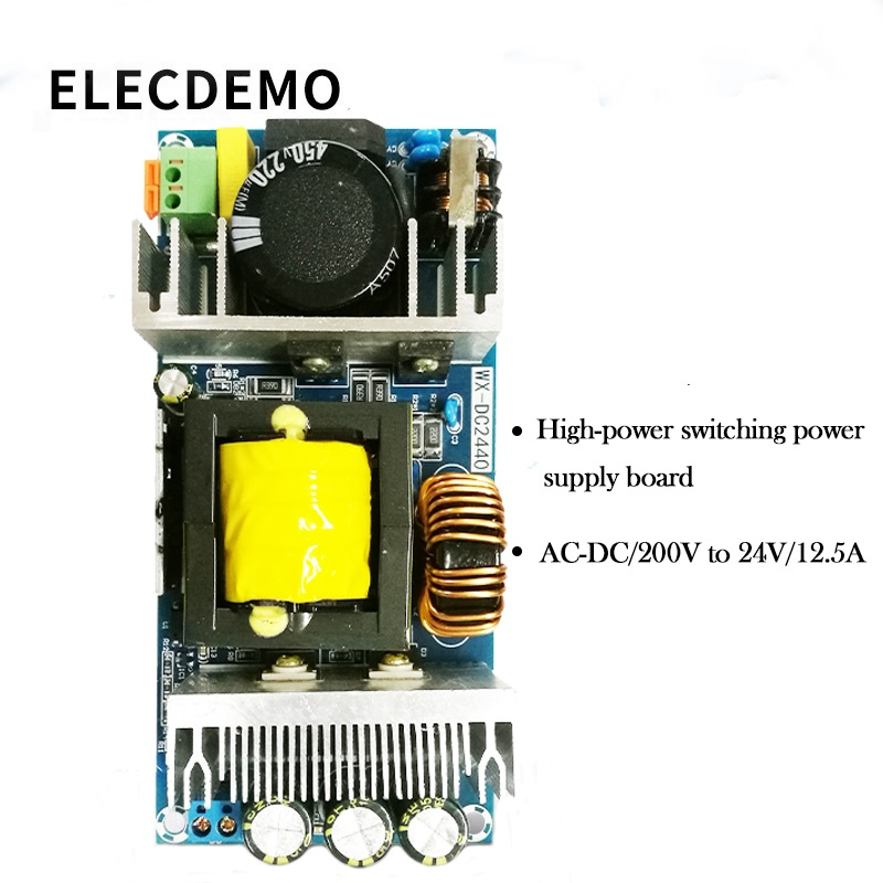 Switching Power Supply Module  Power Module 24V300W Switchingbare Board AC-DC Isolated Power Supply 220V To 24V12.5A