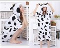 New Japan Animal cow  Fashion Fresh Color Casual Short Sleeve Summer Pyjamas Party Dress Size S M L XL