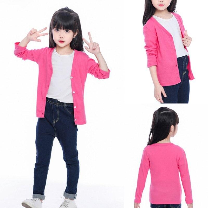 Venda quente crianças outerwear criança cardigan casaco outono primavera recém long-sleeved topos casacos bebê meninas roupas 1-10y a1