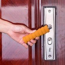 Горячие Сейф спиральный дверная ручка защитный рукав обложка для детей Детский Цвет коричневый/белый