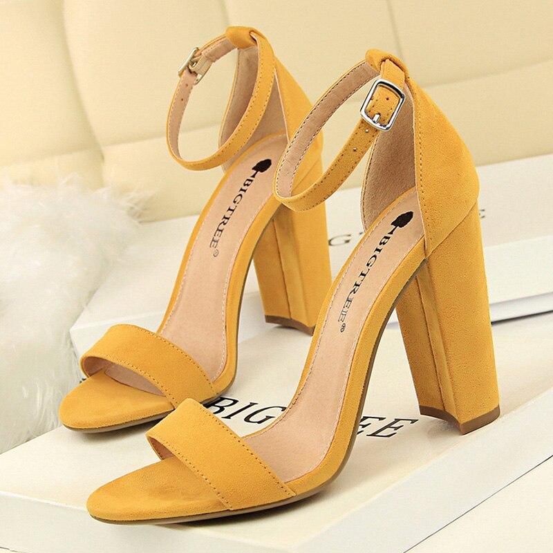 BIGTREE Shoes Women Pumps Comfort Women Shoes High Heels Fashion Block Heels Women Sandals New Women Heels Wedding Shoes Female