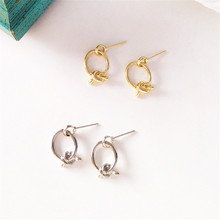 Simple knotted fashion earrings Vintage geometric lady Exaggerated ear ring Refined popular women decorative