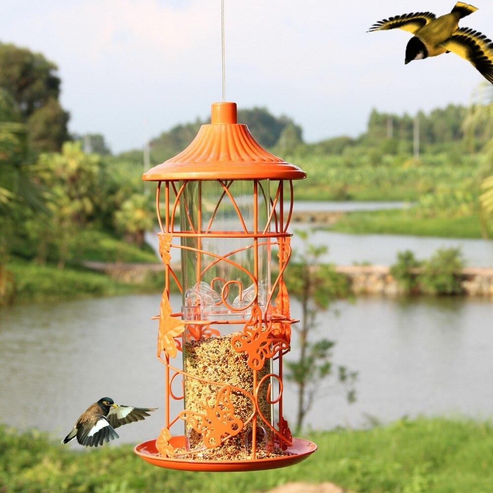 Do Pássaro Do Jardim Ao Ar Livre Recipiente de Alimento