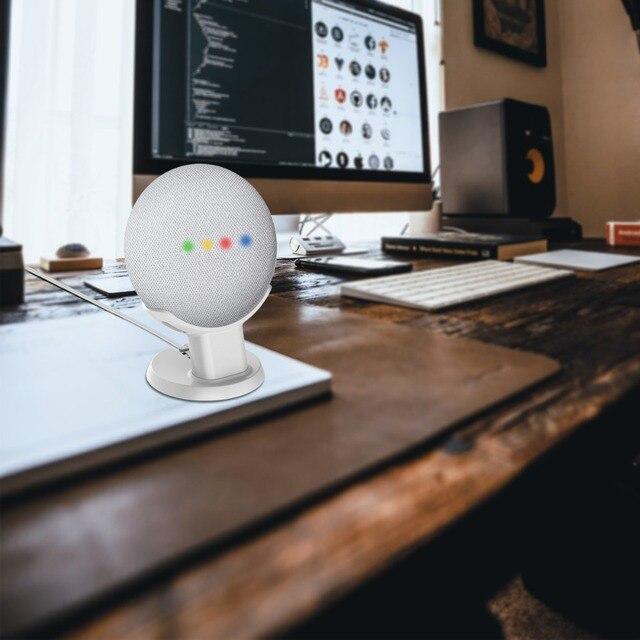 LINGYOU Table Stand Desktop Mount For Google Home Mini Nest Mini Voice Assistants Compact Holder Case Save Spacing Mount Bracket 4
