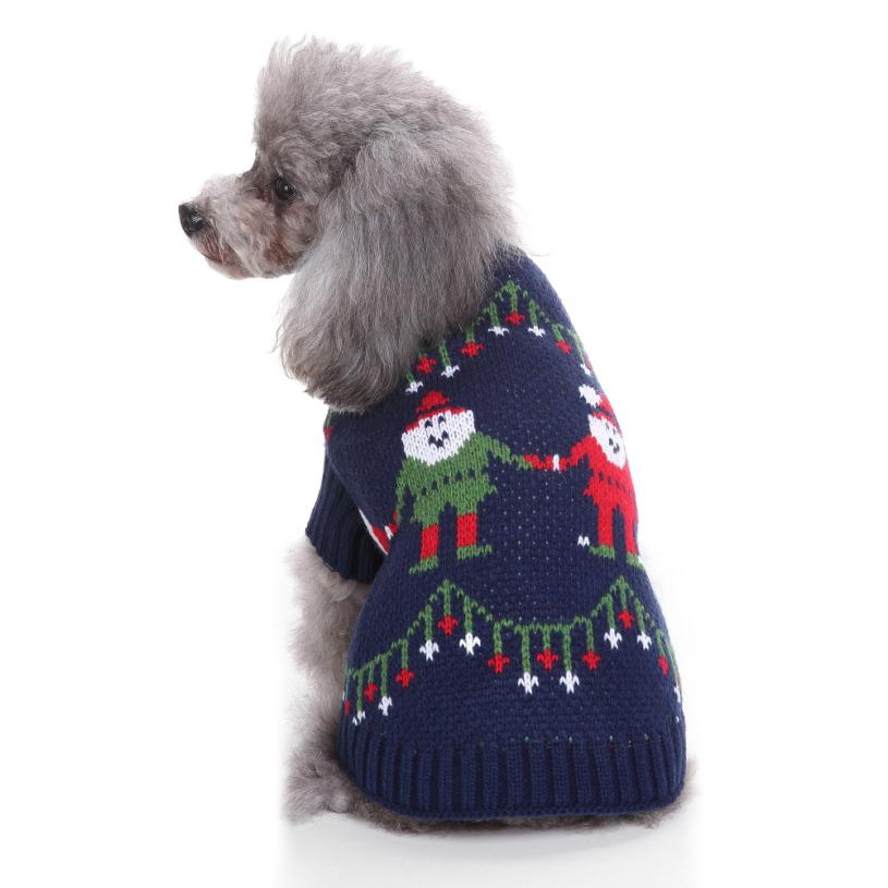 Transer Dog Sweater Pet Sweater Christmas Fashion Comfortable Pet Clothes Festival Dress ...