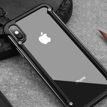Original Oatsbasf aluminium métal pare chocs étui pour iphone X XS XS MAX XR luxe dur antichoc goutte Protection étui pour iphone 11