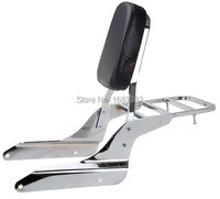 Backrest Sissy Bar With Luggage Rack Chrome For Honda Shadow Vlx 600 1999 2007