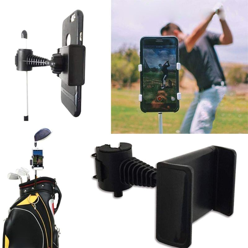 OOTDTY Recorder Holder Golf Swing Recorder Holder Cell Phone Clip Holding Trainer Practice Training Aid