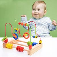 Mathmetic Teaching EducationToy Colorful Math Learning Toy Counting Bead Abacus Maze Roller Coaster Wooden Toy Birthday