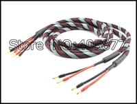 Pair hiend speaker cable with banana plug audio speaker cable 3M