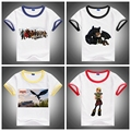 Hot Sale!New How to Train Your Dragon 2 Children T-shirts 100% Cotton Summer Short Sleeved Baby Clothing 6Colors For 2-10Years